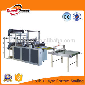 Four Line Double Layer Flat Bag Making Machine pictures & photos