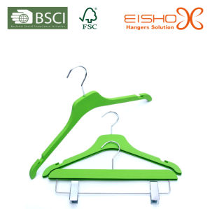 New Plastic Hangers Various Color and with Clips pictures & photos
