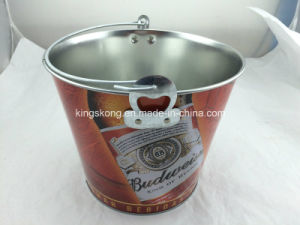 Round Ice Bucket Tin Can with Metal Handle pictures & photos