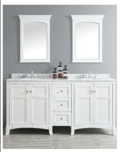 High Quality Solid Wood Bathroom Cabinet (DS03) pictures & photos