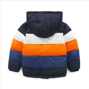 Apparel′s Striped Contrast Color Boy Jacket for Children Garment pictures & photos