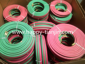 Rubber Oxygen Acetylene Twin Welding Hose pictures & photos