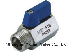 F/M Threaded Ends Pn63 Mini Ball Valve pictures & photos