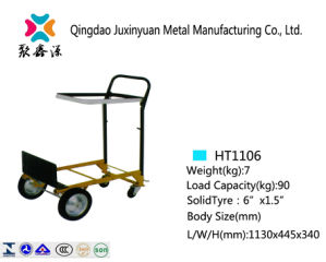 Good Price Hot Sell Solid Wheel Fold Hand Truck Ht1106 pictures & photos