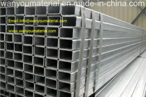 Stainless Steel Tube - Galvanized Square Steel Pipe pictures & photos