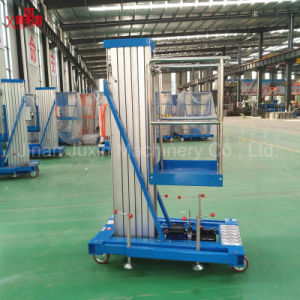 Single Mast Mobile Aluminum Alloy Lift Window Cleaning Lift Building Cleaning Lift pictures & photos
