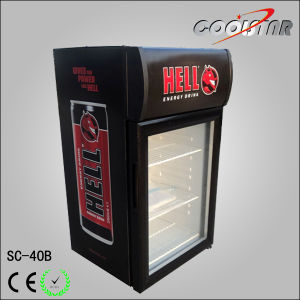 Mini Bar Refrigerator Displayer Cooler with Light Box (SC40B) pictures & photos