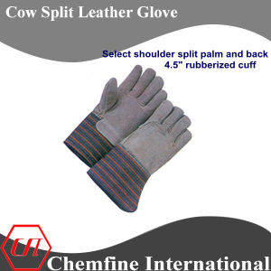 "Select Shoulder Split Palm and Back, 4.5"" Rubberized Cuff Leather Work Gloves pictures & photos"