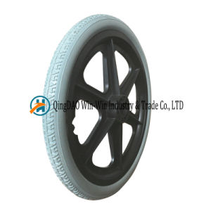 16*1.75 Solid Urethane Foam Wheels for Wheelchairs with Caps pictures & photos