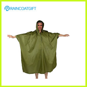 Adult Camping Polyester PVC Coating Rain Poncho Rpy-042 pictures & photos