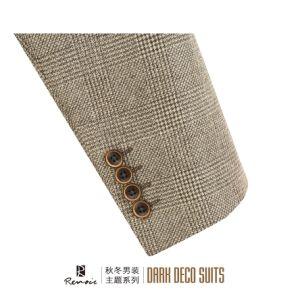 OEM 2017 2 Piece Plaid Woolen Men′s Blazer pictures & photos