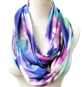 Galaxy Print Viscose Infinity Scarf pictures & photos