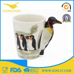 Funny Design Ceramic Custom 3D Animal Coffee Mug for Gift pictures & photos