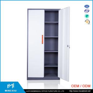 Mingxiu Office Furniture Steel Cabinet 2 Door Lockable Cupboard/Swing 2 Door Steel Cabinet pictures & photos