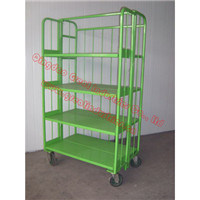 Transport Milk Roll Cage Container, Shopping Trolley, Table Trolley, Folding Roll Container, Cargo Storage Container, Tc7179