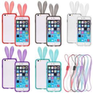 Cute Rabbit Bunny Crystal Soft TPU Bumper Case for iPhone 6 4.7""