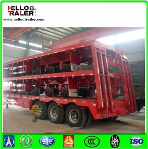 Construction Machinery Tri-Axle 60 Ton Low Transport Trailer pictures & photos