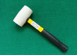 White Color Rubber Hammer with Fibre Glass Handle pictures & photos