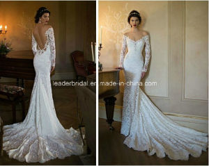 off-Shoulder Bridal Gowns Lace Backless Wedding Dresses (Z9020) pictures & photos