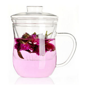 Tea Cup Glass Mug for Tea Coffee Mug with Lid pictures & photos