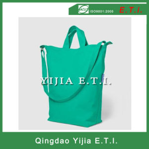 High Quality Green Color Cotton Canvas Tote Bag pictures & photos