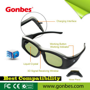 3D Active Shutter Glasses for Bluetooth Television (GBSG05-A)