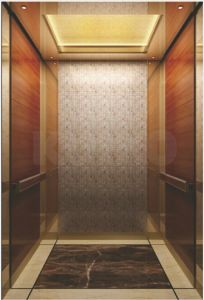 Ti-Gold Mirror Stainless Steel Passenger Elevator pictures & photos