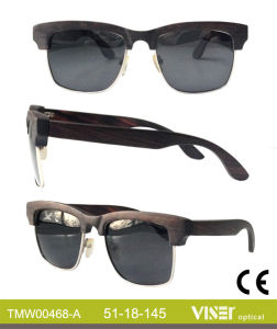 Fashion Wooden Sunglasees with High Quality (468-A) pictures & photos