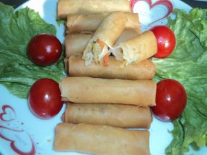 100% Hand Made 40g/Piece Fresh Vegetable Frozen Egg Roll pictures & photos