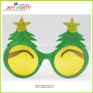 Green Christmas Tree Plastic Glasses Promotion Gifts pictures & photos