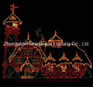 LED 2D Xmas Castle Motif Light for Park pictures & photos