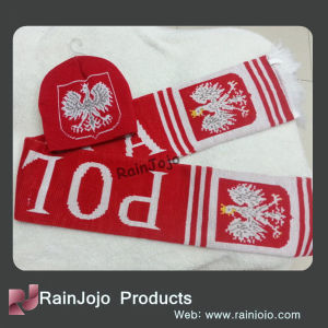 2014 Football Scarf Acrylic Scarf and Beanie Set pictures & photos