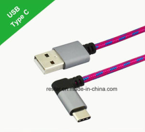 Type-C to USB 2.0am Cable with 90 Degree Angle pictures & photos