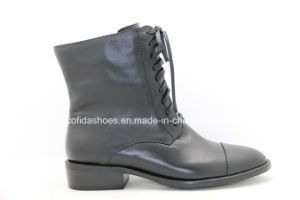Comfort Flat Casual Geunine Leather Women Boots pictures & photos
