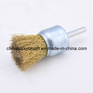 25mm Steel Wire End Polishing Brush (YY-063) pictures & photos