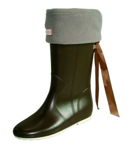 PVC Rain Boots with Foot Cover for Winter pictures & photos