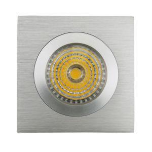 Lathe Aluminum GU10 MR16 Square Fixed Recessed LED Spotlight (LT2111A) pictures & photos