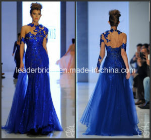 Blue Sequins Evening Dress Fashion Prom Dresses Vestidos Ld1158 pictures & photos