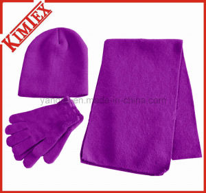 Winter Acrylic Warmer Set, Scarf, Hat, Glove pictures & photos