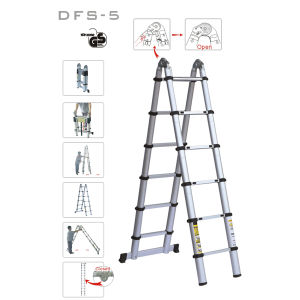 Portable Aluminium Telescopic Retract Folding Double Side Ladder Stairs pictures & photos
