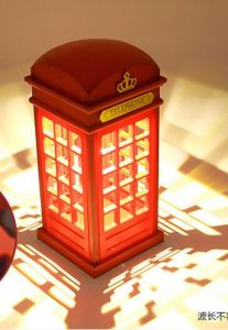 European-Style British Phone Booth Touch Rechargeable LED Lamp