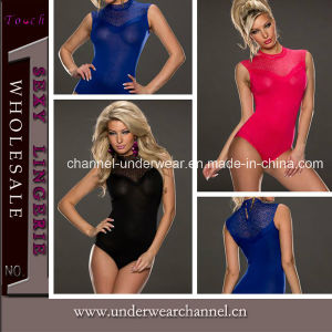 Sexy Black Blue Red Lady High Neck Teddy Underwear (T3194) pictures & photos