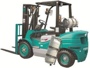 3.0t Gasoline Forklift with Nissan K25 Hydraulic Transmission, (FGL30CTJ) pictures & photos