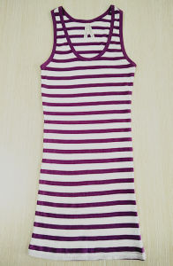 Women Fashion Garment Sleeveless Round Neck Breathable Tank Top pictures & photos