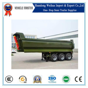 Tri-Axle Rear 40 Cubic Meter Tipper Dumper Truck Hydraulic Cylinder Lift Dump Trailer pictures & photos