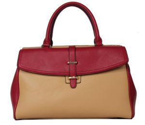 New Style Elegant Belt Decorated Lady PU Tote Handbag (C70952) pictures & photos
