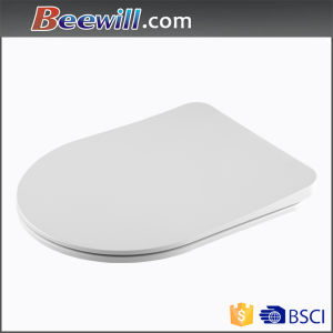Slim D Shape Duroplast Soft Close Bathroom Toilet Seat pictures & photos