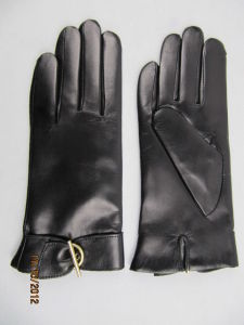 Lady Fashion Leather Gloves (JYG-23013) pictures & photos