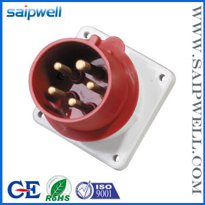 CE IP44 3p+E Panel Wall Mounted Industrial Plug (SP821)