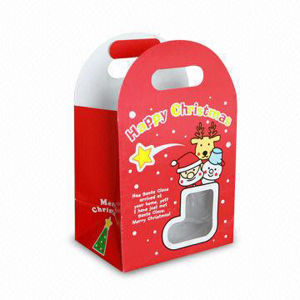 Die Cutting, Christmas Gifts Packaging Paper Bag Printing pictures & photos